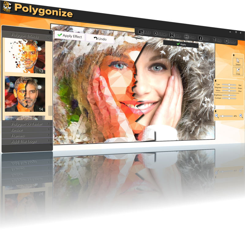 Polygonize Effect Software